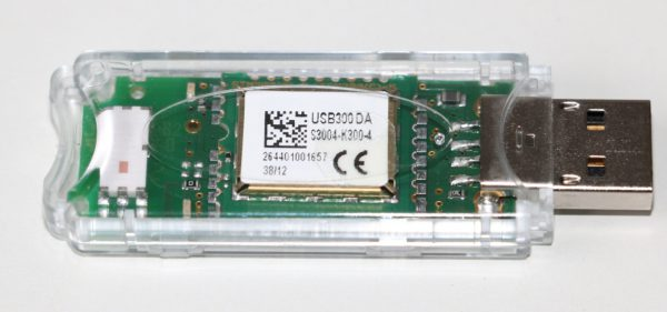 EnOcean USB300 Stick used to send EnOcean telegram