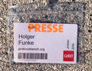 Blogger Press Card CeBIT 2016